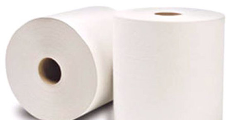 45900 WHITE ROLL HAND TOWEL