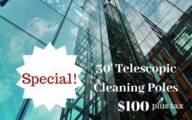 30″ TELESCOPIC CLEANING POLES