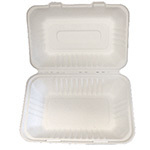 BIODEGRADABLE HINGED HOAGIE  CONTAINERS