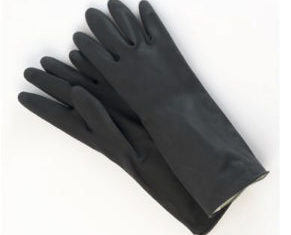 RUBBER GLOVES BLACK –   (PAIR)